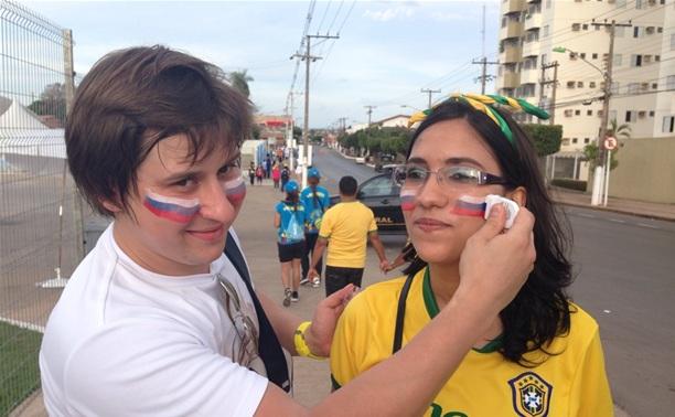 Туляки поддержали сборную России в первом матче на ЧМ по футболу