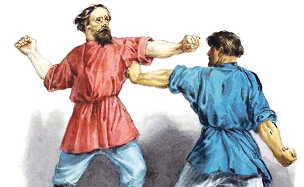 Кулачные бои в Туле: Подьяческие против семинарских