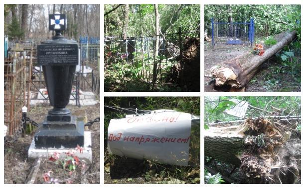 Факты и мистика: На старинном кладбище в Туле разгулялась стихия