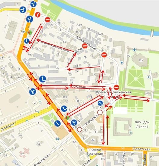 Улица Металлистов вТуле будет закрыта для транспорта с17сентября