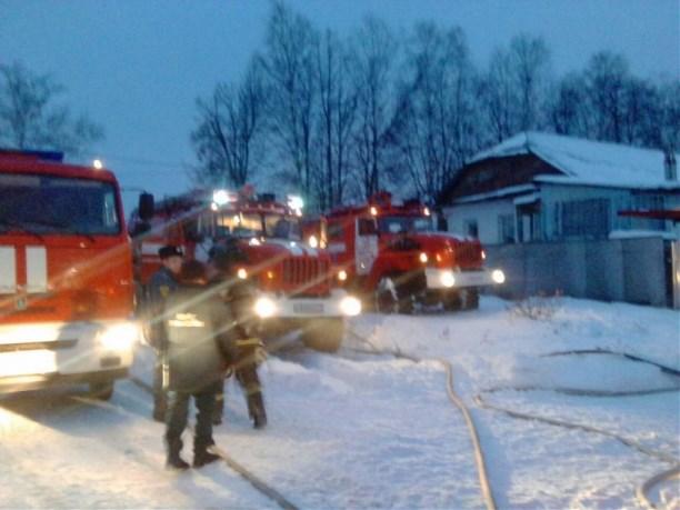 Под Тулой вдоме вспыхнул пожар