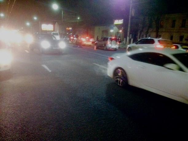 Пешехода наул.Октябрьской вТуле сбили два автомобиля