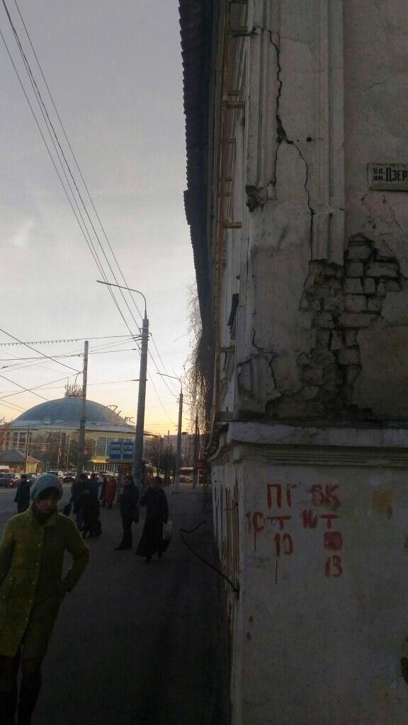 В Туле может обрушиться дом у остановки Дзержинского