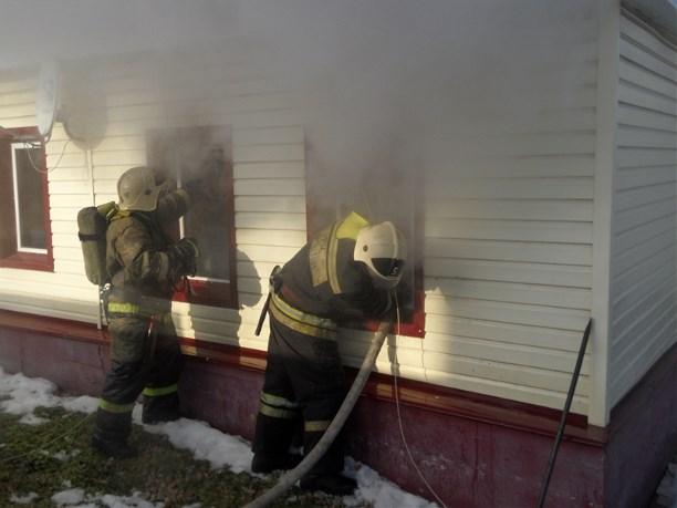 ВТульской области впожаре пострадала пенсионерка