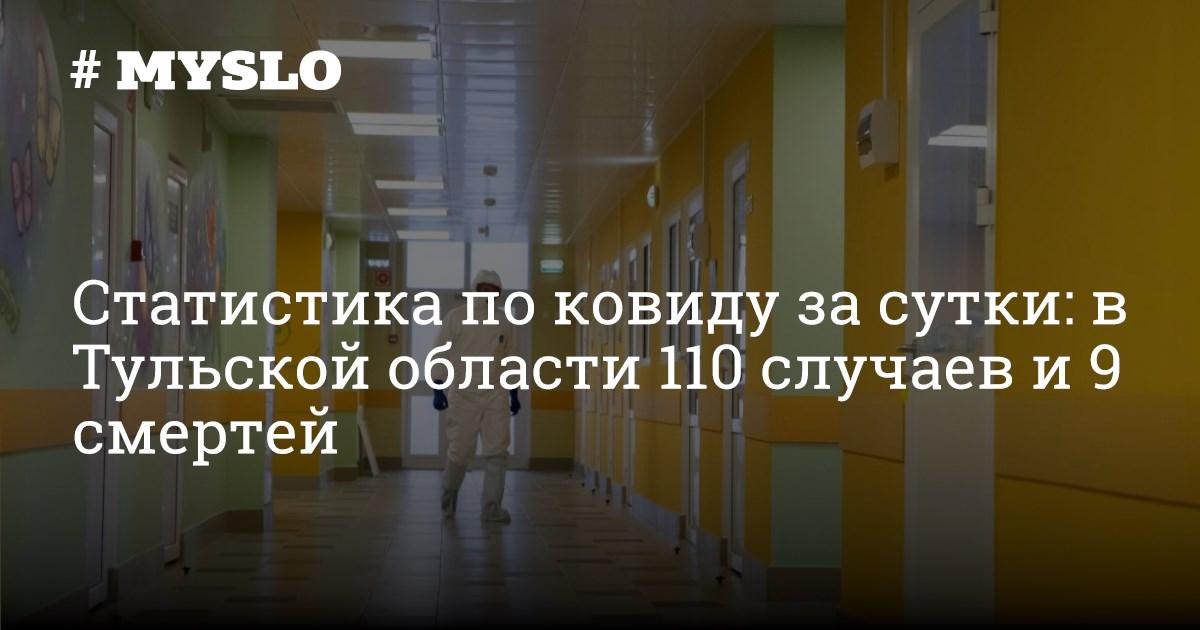 Статистика по ковиду за сутки: в Тульской области 110 случаев заболевания и 9 смертей - Новости Тулы и области - MySlo.ru
