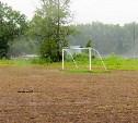 В поселке Октябрьский обустраивают футбольное поле