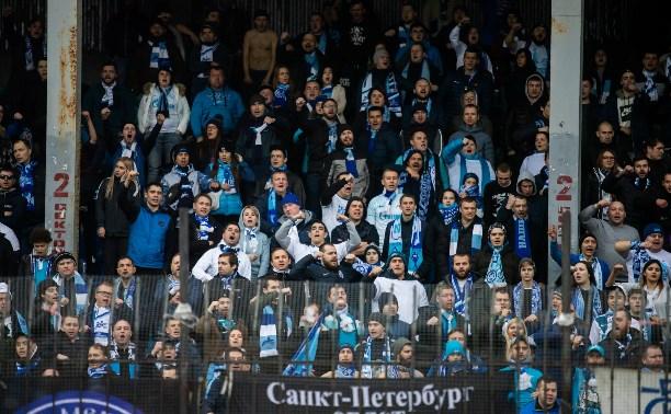 «Зенит» оштрафован на 40 тыс. рублей после матча в Туле