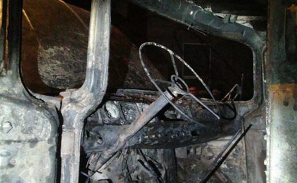 В Богородицком районе сгорел брошенный грузовик