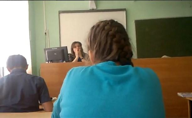 Тульский школьник снял на видео, как учитель ругает и материт детей