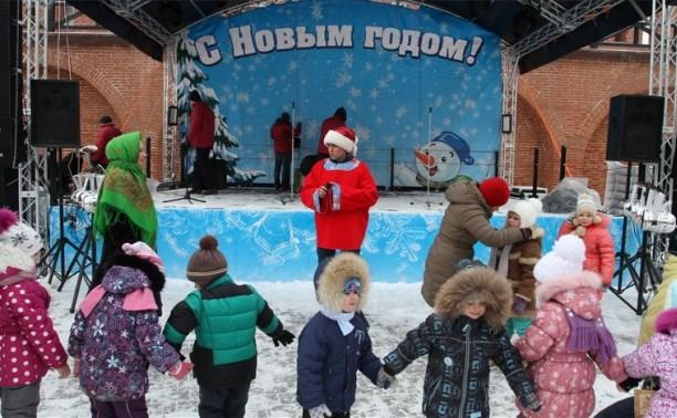 В Тульском кремле прошло новогоднее представление