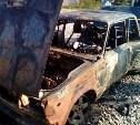 В Алексинском районе сгорела «семёрка»