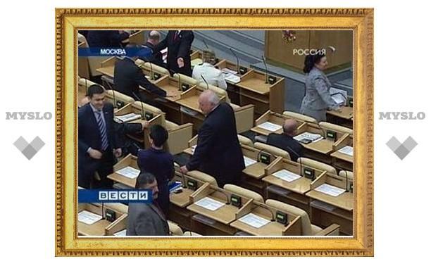 Думская оппозиция отмолчалась на первом после демарша заседании