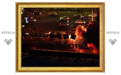 На северо-востоке Москвы сгорел трамвай
