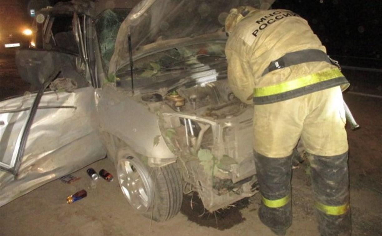 Под Новомосковском водитель Chery врезался в отбойник