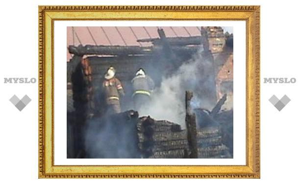 Под Тулой сгорело 8 домов