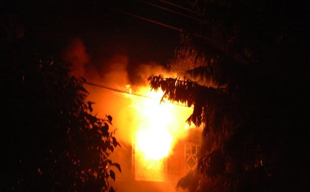 В Щекинском районе при пожаре пострадал 38-летний мужчина