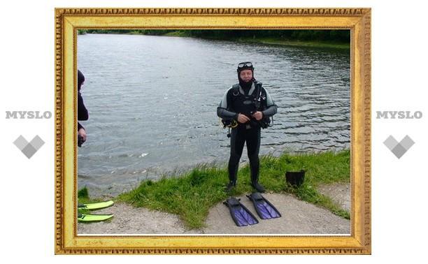 Тульские дайверы очистят дно пруда в Центральном парке Тулы