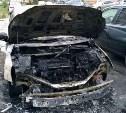 В Новомосковске утром сгорели четыре автомобиля