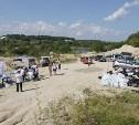 В Заокском районе волонтёры выпустили в  Оку мальков стерляди