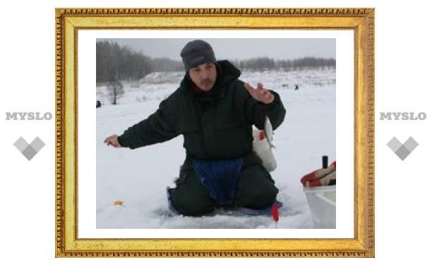 Под Тулой продолжается зимняя рыбалка