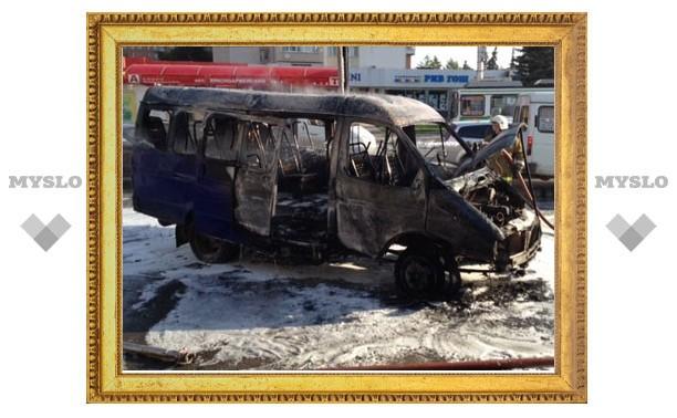 В момент возгорания в тульском автолайне находились пассажиры
