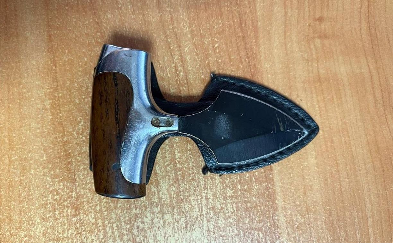 В Центральном суде Тулы задержан мужчина с тычковым ножом
