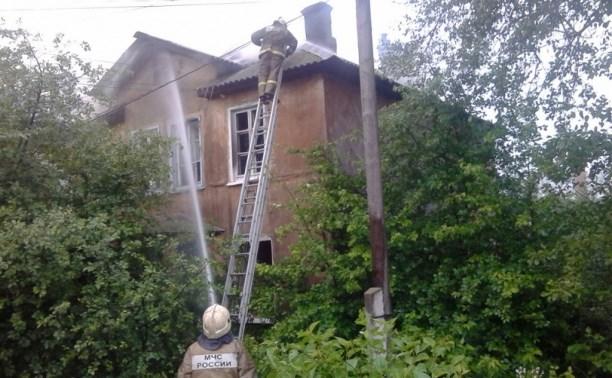 Сотрудники МЧС спасли мужчину на пожаре