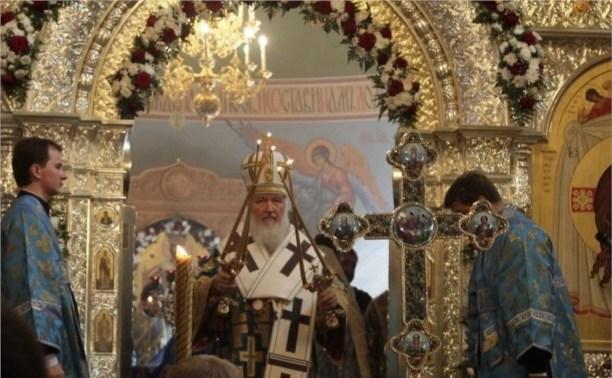 Патриарх Кирилл провёл божественную литургию в храме Преподобного Сергия Радонежского