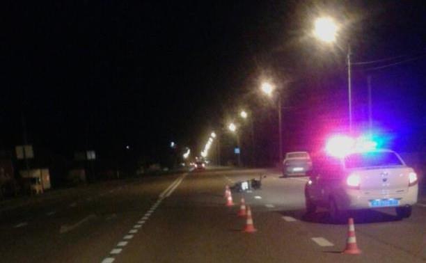 Неизвестный сбил мотоциклиста и скрылся с места аварии