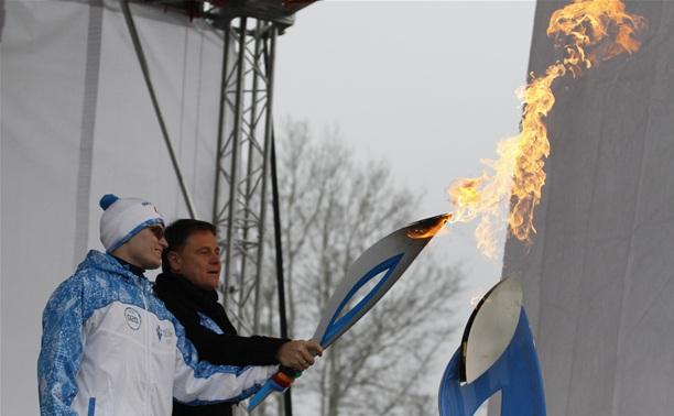 Губернатор Тульской области сделал подарок всем факелоносцам