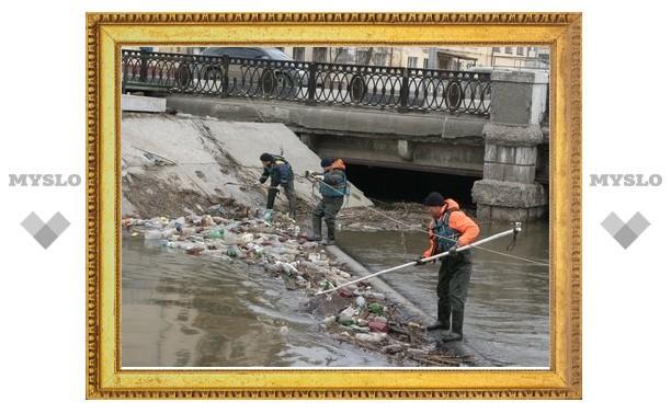 Тульские спасатели расчищают Воронку от мусора