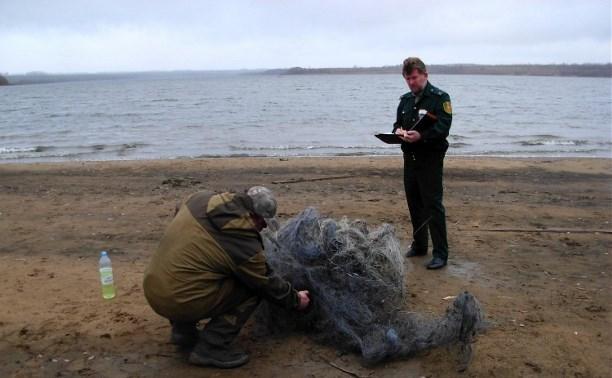 На Пронском водохранилище обнаружено более 1000 метров браконьерских рыболовных сетей
