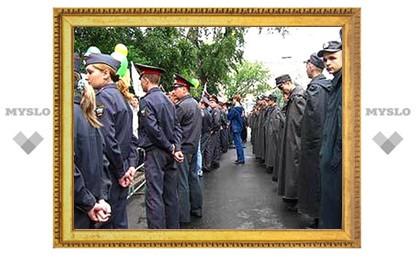 В День России порядок в Туле охраняли милиционеры из Липецка