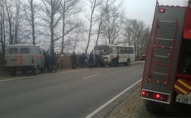 В Киреевском районе столкнулись «семёрка» и пассажирский автобус «Тула-Липки»