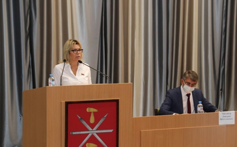 Ольга Слюсарева и Дмитрий Миляев представили депутатам гордумы отчеты о работе