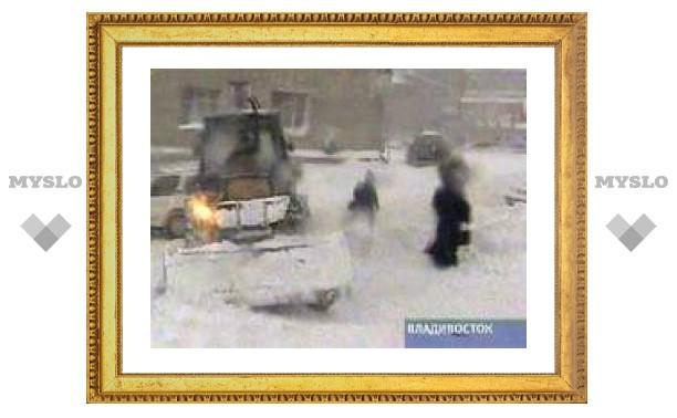 Во Владивостоке снегопад поставил абсолютный рекорд