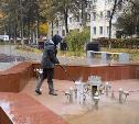 В Туле на зиму закрывают городские фонтаны