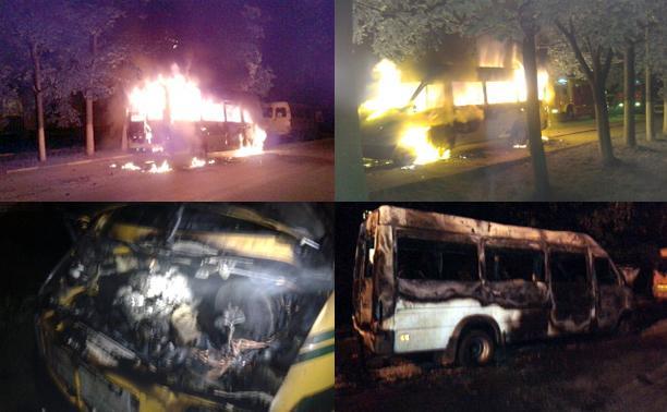 За ночь в Новомосковске сгорели два микроавтобуса
