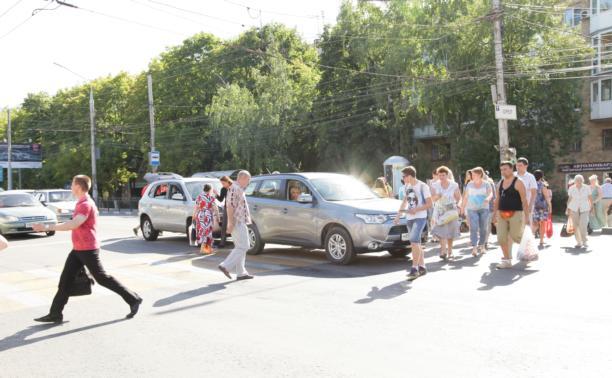 В центре Тулы столкнулись Hyundai и Mitsubishi