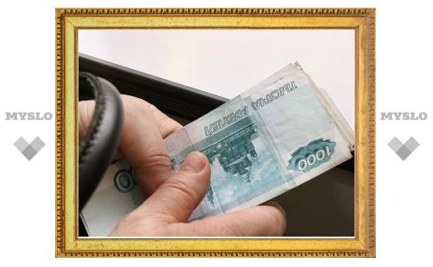 Житель Узловой принес в ОБЭП взятку