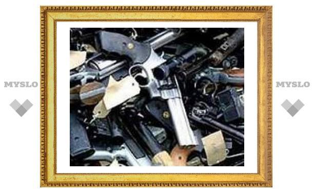 У туляка изъяли арсенал оружия