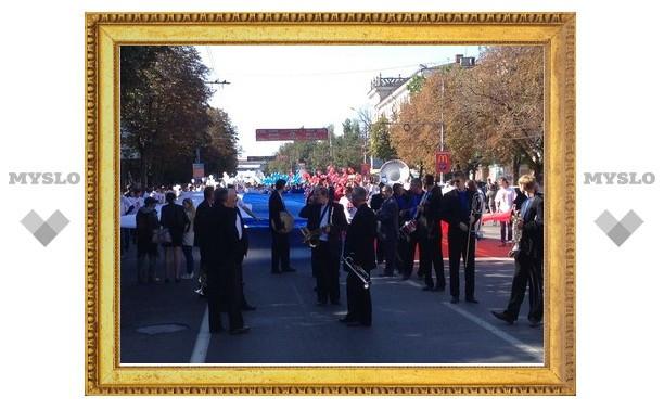 Проспект Ленина в Туле перекрыли