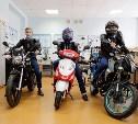 Алексей Дюмин подарил киреевским школьникам мотоциклы и моноблоки