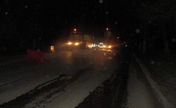 На ул. Н. Руднева неизвестный водитель сбил дорожного рабочего