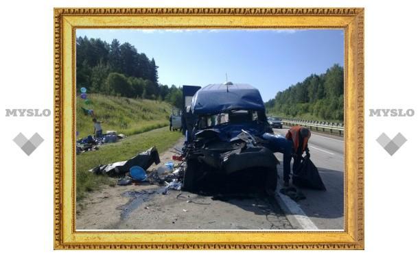 В Тульской области в страшную аварию попал автобус с белорусами