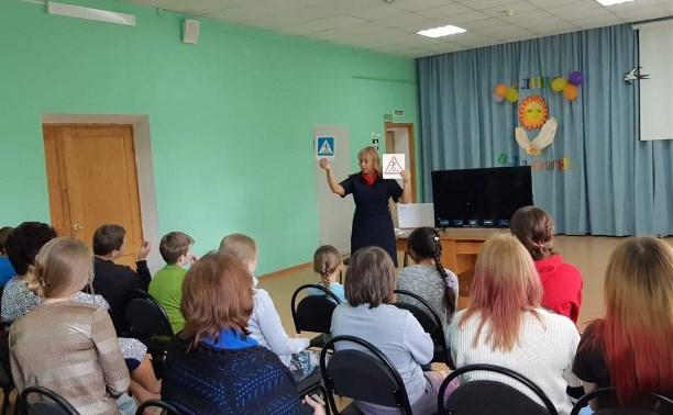 Сотрудники Тульской Госавтоинспекции напоминают о ПДД детям в лагерях