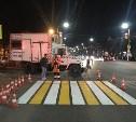 На улицах Тулы восстанавливают дорожную разметку