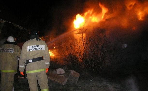 В Заокском районе сгорела дача