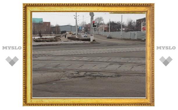 В Туле завершили ямочный ремонт ул. Октябрьской