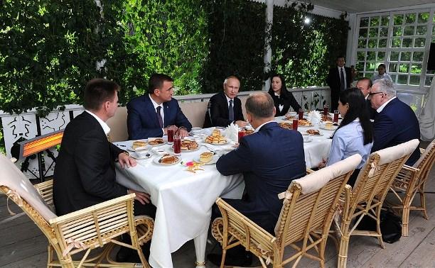 Путин в Туле: о ЖКХ, хрупких девушках и красивом городе